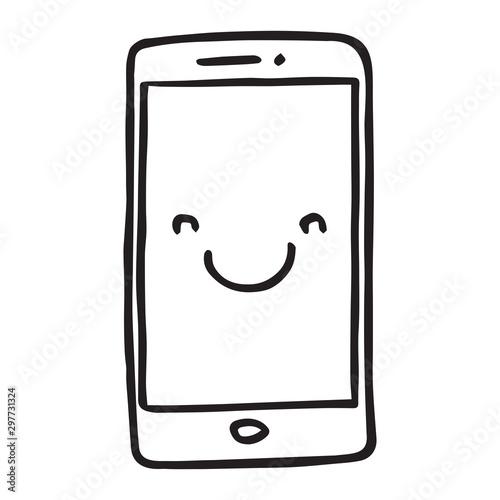 Hand drawn Smartphone Obraz na płótnie