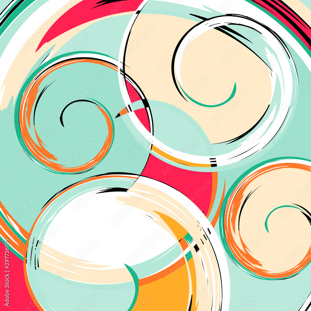 beautiful color abstract pattern vector illustration of graffiti