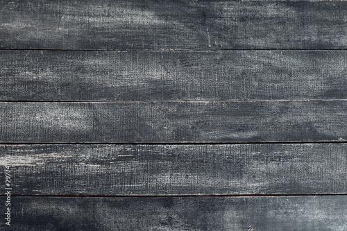 Fotografiet  old natural  dark black wooden texture backround