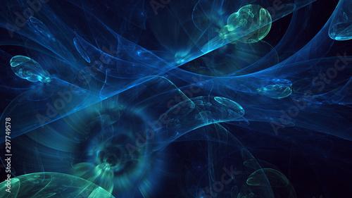 Fractal waves Fractal 3D rendering abstract light surreal background