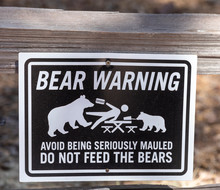Warning Sign For Bears