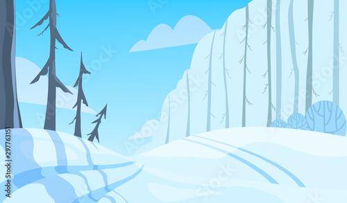 Keuken foto achterwand Lichtblauw Winter landscape. Snow on the tree, beauty