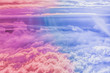 canvas print picture - Dreamy surreal sky as abstract art, fantasy pastel colours background for modern design
