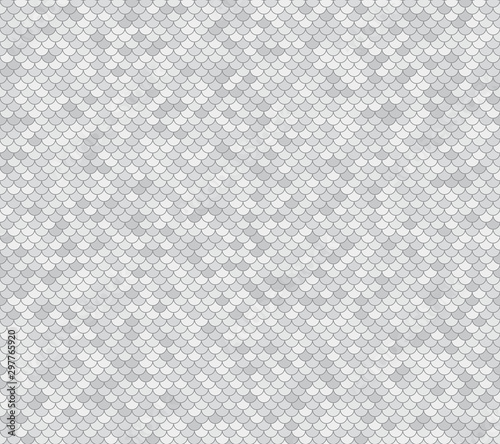 Fish scales seamless vector background. Abstract grey backdrop with nautical design.
