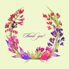 Thank You! Wreath Of Flowers. ...