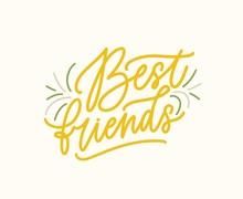 Best Friends Vector Handwritte...