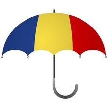 Chad Flag Umbrella