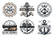 Nautical heraldic icons and symbols