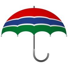 Gambia Flag Umbrella