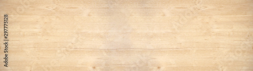 Stampa su Tela old brown rustic light bright wooden maple texture - wood background panorama ba