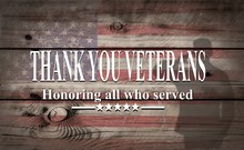 Happy Veterans Day With Americ...
