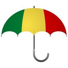 Mali Flag Umbrella