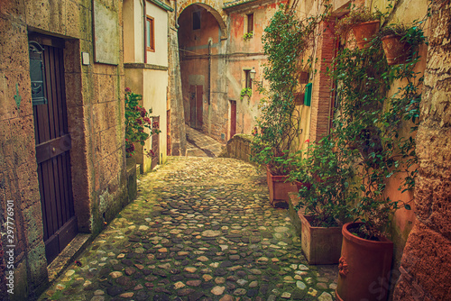 Sorano city street Canvas Print