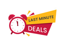 Red Last Minute Deal Logo, Sym...
