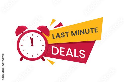 Fotomural  Red last minute deal logo, symbol, banner