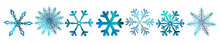 A Set Of Colorful Snowflakes. Vector Illustration