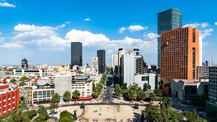 Skyline of the business district of Mexico City