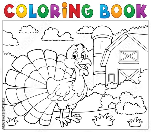 Montage in der Fensternische Für Kinder Coloring book turkey bird theme 2