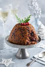 Traditional Festive Christmas Pudding