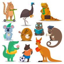 Australian Animals Vector Cart...