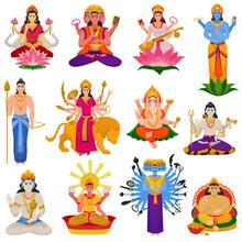 Indian God Vector Hindu Godhea...