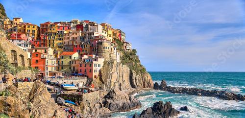 Manarola village, one of the five villages of the Cinque Terre, Italy Tableau sur Toile