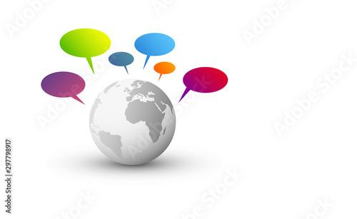 mondo, pianeta, comunicazione, parlare Wallpaper Mural