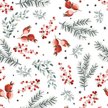 Christmas Seamless Pattern, Re...