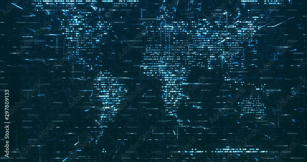Fototapeta Abstract grid shape background. 3D rendering
