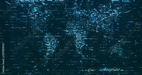 Fotografía  Abstract grid shape background. 3D rendering