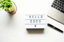 HELLO 2020 Business Concept ,m...