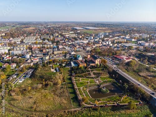 Fototapeta Sochaczew, widok z lotu ptaka na centrum miasta