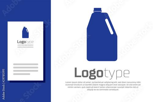 Fototapeta  Blue Household chemicals blank plastic bottle icon isolated on white background