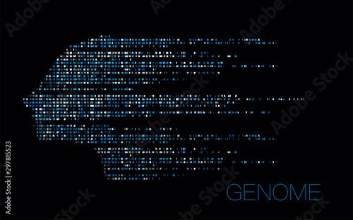 Big genomic data visualization Canvas Print