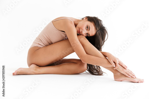 Obraz Portrait of a beautiful sensual young brunette woman - fototapety do salonu