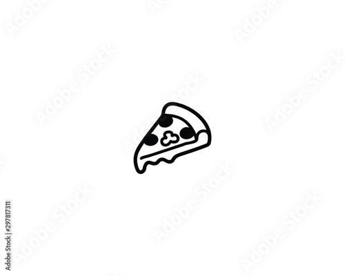 Foto Pizza slice vector isolated icon