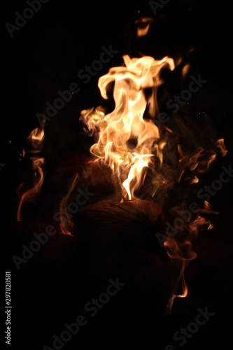 Acrylic Prints Flame Fire in the night