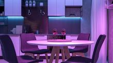 Modern Kitchen With Colored Li...