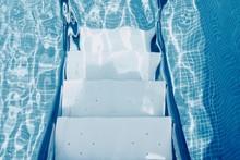 Step Ladder Underwater In Pool