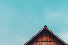 Gable Shed Roof And Blue Sky