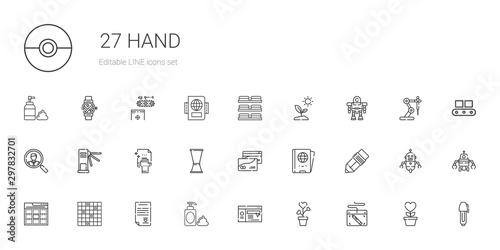 hand icons set Canvas Print