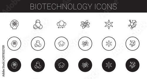 biotechnology icons set Wallpaper Mural