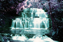 Waterfall In Purple And Blue H...