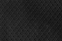 Black Plastic Rough And Stiff Fabric For Bags With Pattern Background Texture