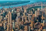 Fototapeta Nowy York - Aerial view of the skyscrapers of in Manhattan, New York City