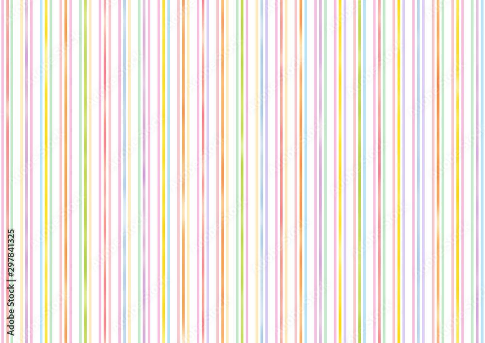 Fototapeta 水彩風のカラフルな縦ストライプな背景