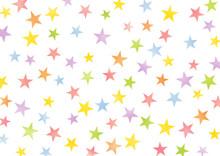 水彩風のカラフルな星の背景