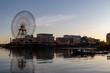 朝日と船(撮影場所:横浜汽車道)