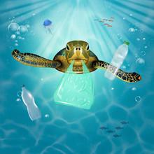 Illustration Of Sea Turtle Swi...