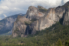 Cathedral Rocks And Bridalveil...